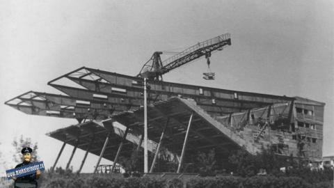 Строительство кинотеатра «Аврора», 12 мая 1966 года
